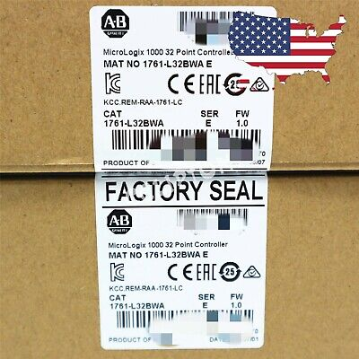 New Sealed Allen Bradley 1761-l32bwa Ser E Micrologix 1000 32 Point Controller