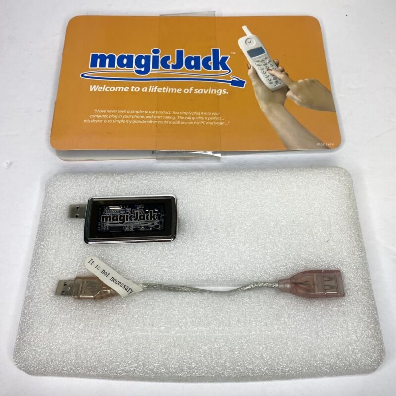 Magic Jack Telephone System Local Long Distance Calling