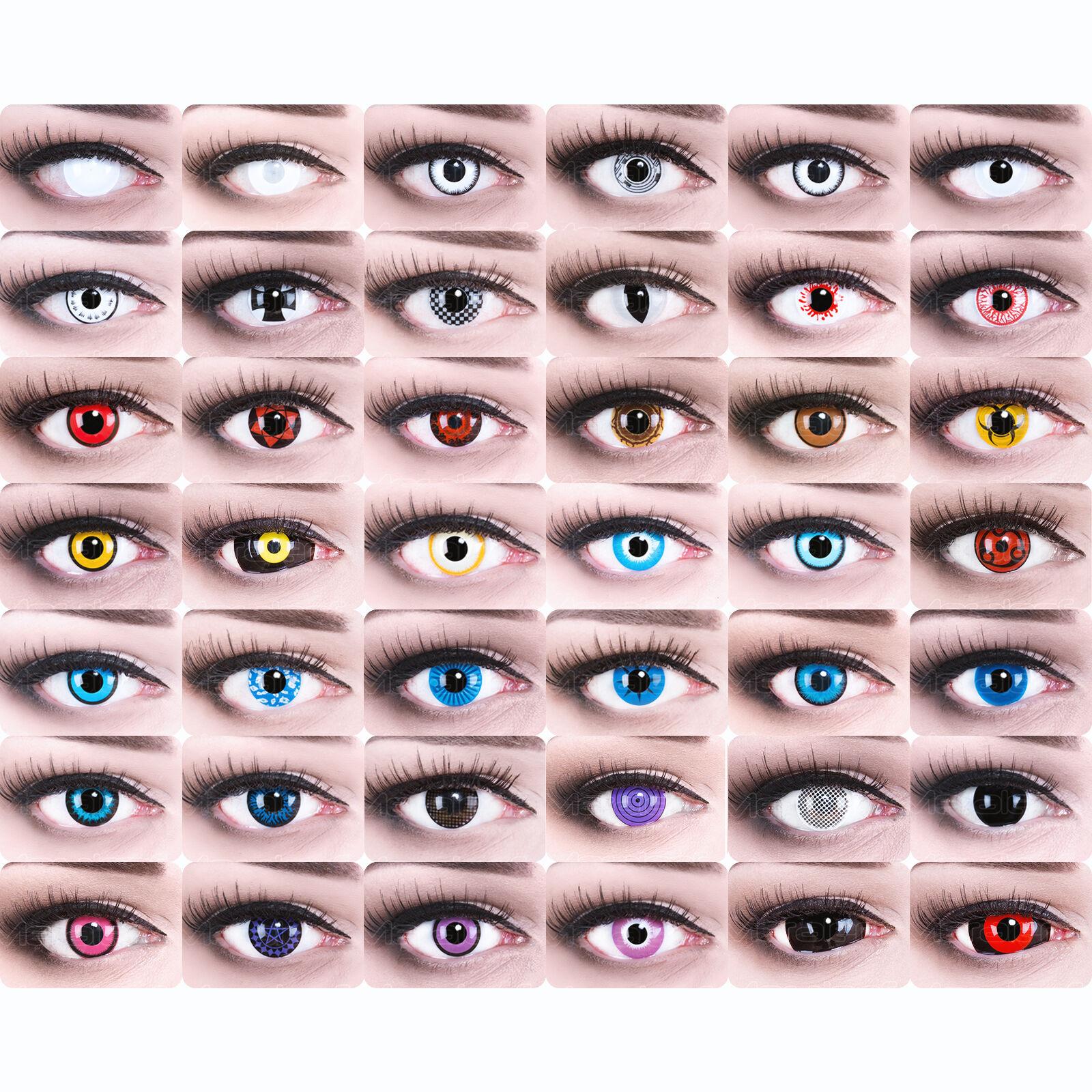 Farbige crazy Kostüm Kontaktlinsen Halloween rote weiße Vampir Zombie Dämonen