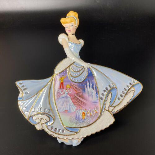 2006 Bradford Exchange Midnight Spell Disney Cinderella Porcelain Jeweled Plate