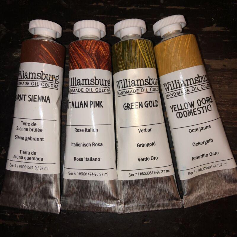 Williamsburg Handmade Oil  Colors 37 ml Lot  Of 4