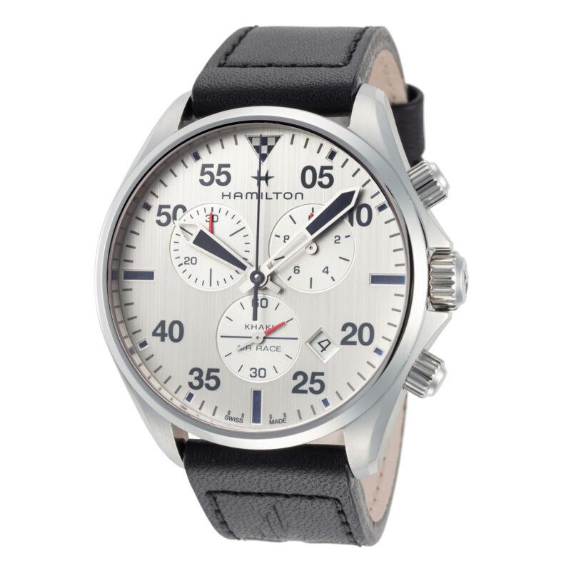 Hamilton-Men-Khaki-Aviation-H76712751-44mm-Silver-Dial-Chronograph-Watch