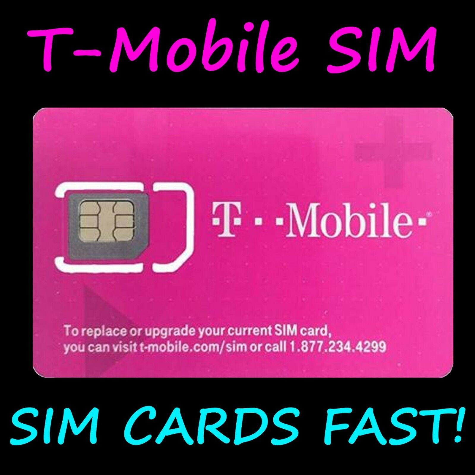 NEW TMobile 4G LTE SIM CARD Unactivated. 3 IN 1 TRIPLE CUT.