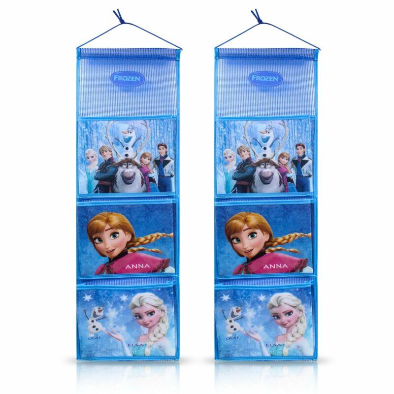 Finex 2 pcs Set Frozen Elsa Anna Olaf Blue Wall Door Closet Hanging Storage Bag