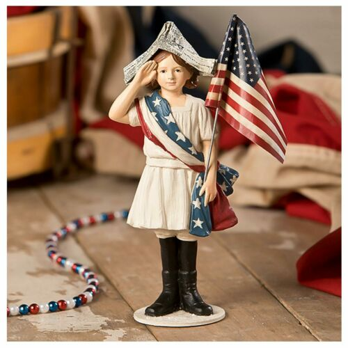 Bethany Lowe 4th Of July Patriotic Independence Stars Stripes Decor Figurine