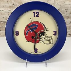 Buffalo Bills NFL Wall Clock Dated 1991 Manufactured by Bulova Sportstime