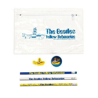 THE BEATLES Yellow Submarine PENCIL SET with eraser/sharpener/bag
