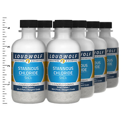 Stannous Chloride 2 Lb Total 8 Bottles Reagent Grade Small Flakes Usa Seller