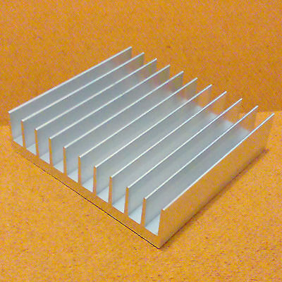 4 Inch Heat Sink Aluminum 4.0 X 4.23 X 1.05 Inches. Low Thermal Resistance.