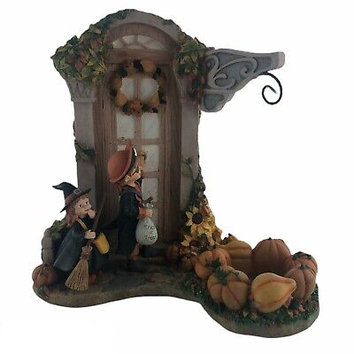 Vintage Yankee Candle Candle Holder Pirate Witch Trick or Treat Halloween RARE