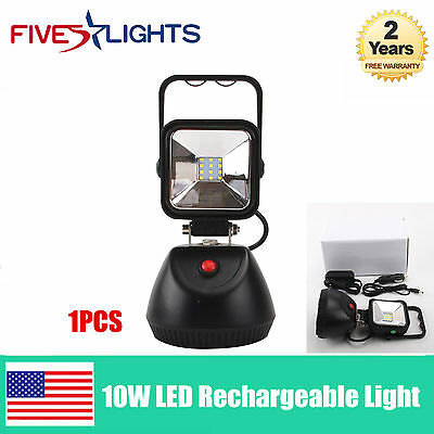 10W Portable Rechargeable LED Work Light New Pro Design SUV JEEP OFFROAD LAMP
