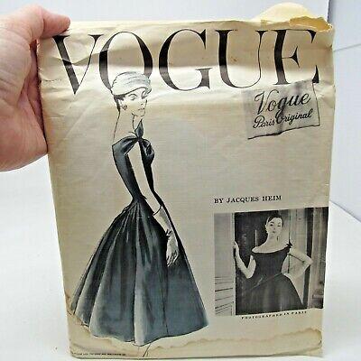 Vintage Pattern Vogue Paris Original # 1337 Jacques Heim SZ 14 Bust 32 Hips 35 F