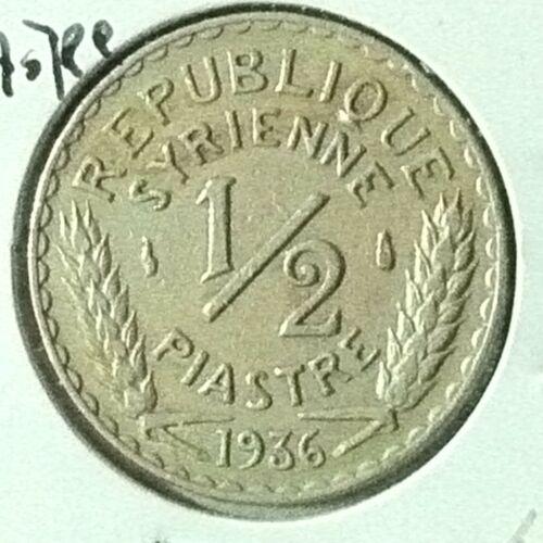 Syria 1/2 Piastre KM 75 XF 1936