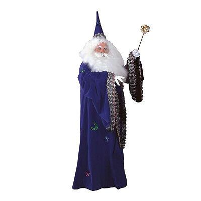Mens Deluxe Rental Merlin Costume Hat Velvet Robe Satin Lining Purple Black](Costumes Rentals)