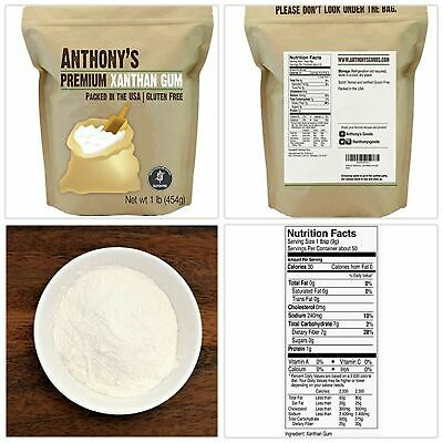 Xanthan Gum Powder Packed in the USA Gluten-Free 1lb by Anthony