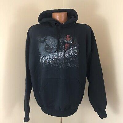 Disney Nightmare Before Christmas Pullover Hoodie Jack Skellington Size M Black ()