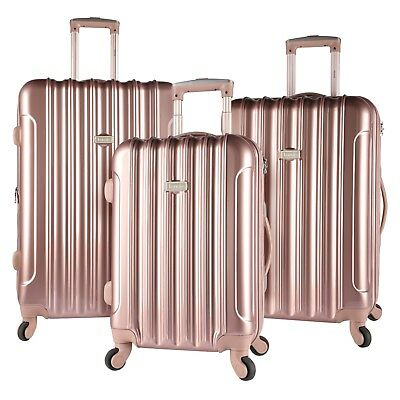 494250bd6 ROSE GOLD Kensie Luggage 3 PC Expandable Hard Side Double Spinner Luggage  Set