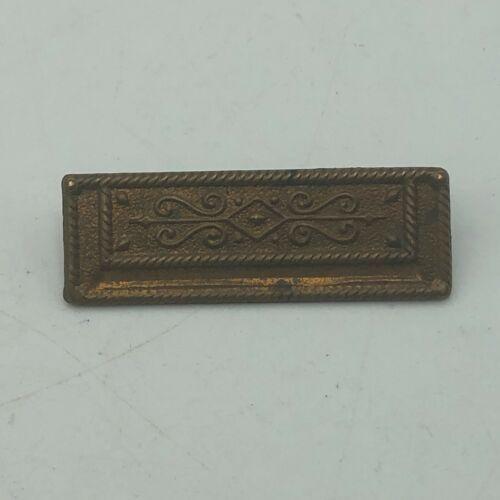 Art Deco Fancy Copper Tone Bar Pin Brooch Vintage Antique Older   E3