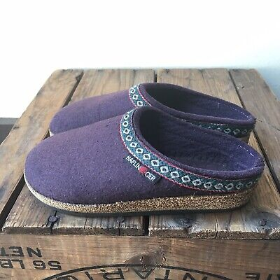 KIDS HAFLINGER GRIZZLY CLOGS NAVY SOFT WOOL SIZE 12.5/13 (EURO 31/32)