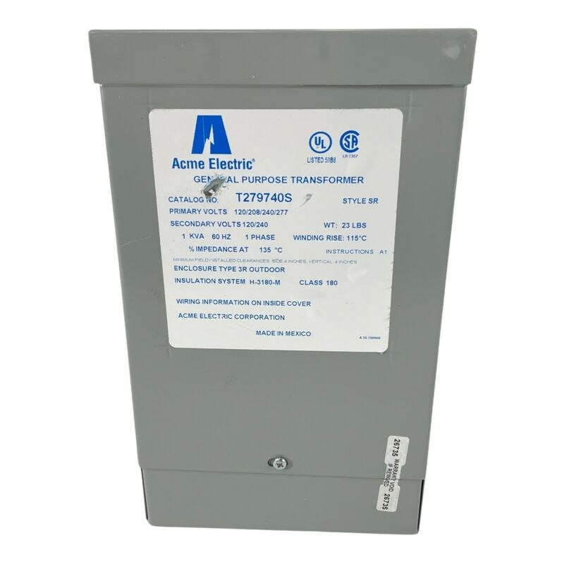 Acme Electric T279740S Dry Type Distribution Transformer Single Phase New