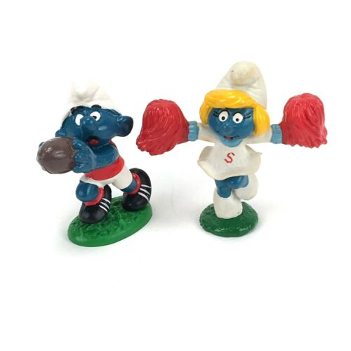 PEYO Cheerleader Smurfette Football Player Smurf