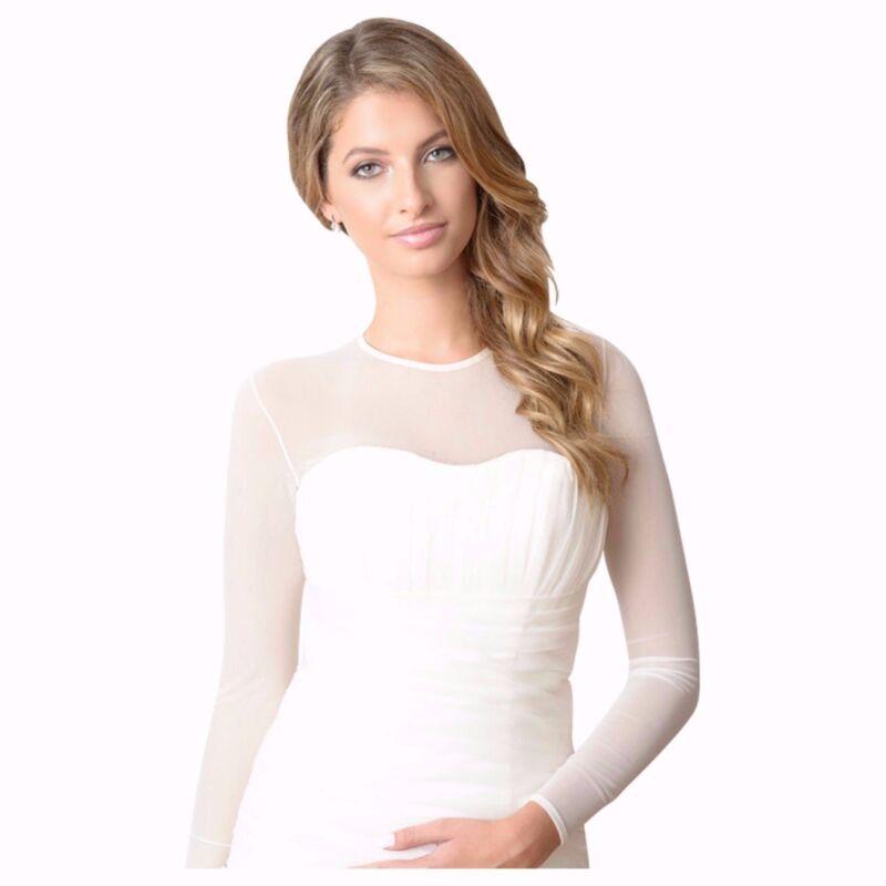 BEST SELLER! Semi Sheer Mesh Bodysuit wedding dress Bridal Cover up. Available i