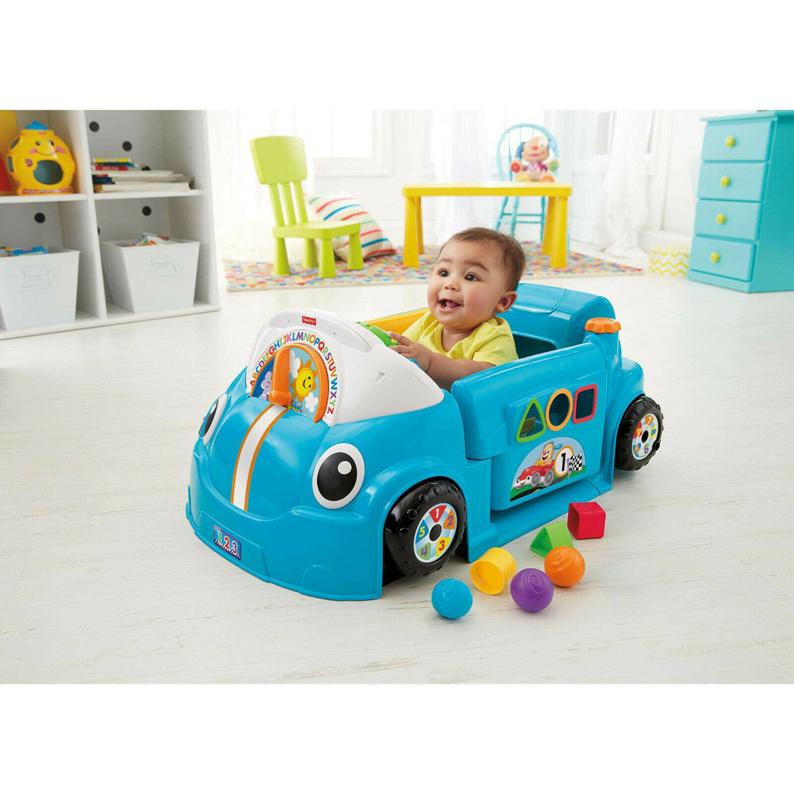 Fisher-Price Laugh & Learn Smart Stages Crawl Around Car, Bl