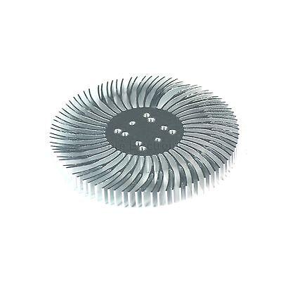 2pcs 3.5x0.4inch Round Spiral Aluminum Alloy Heatsink For 1-10w Led Silver White