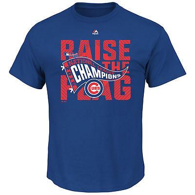 National League Champions Locker Room - Chicago Cubs Majestic Royal 2016 National League Champions Locker Room T-Shirt