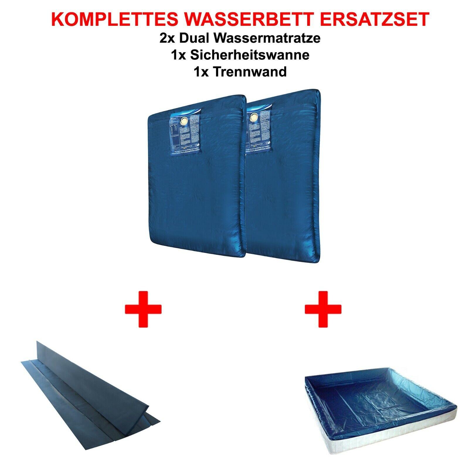 Komplettes ERSATZSET 2x Wasserkern Matratze Wasserbett + Liner + Trennwand