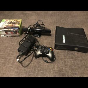 Xbox360 console Kinect with 8 games