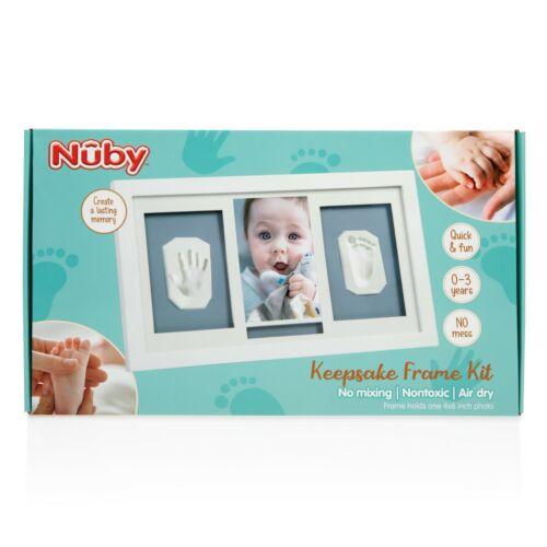 "Nuby Baby Hand & Foot Print Keepsake Frame Kit - 4 x 6"" Photo & 2 Clay Prints"