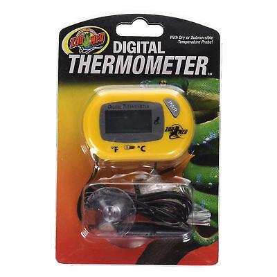Zoo Med Digital Terrarium Thermometer with Temperature Probel Reptile Terrarium