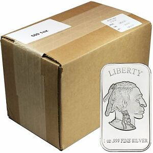 American Buffalo 1oz 999 Fine Silver Bar By Silvertowne
