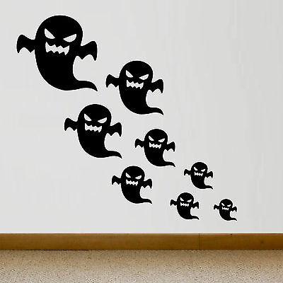 10 UNIDADES - HALLOWEEN - STICKERS - FANTASMAS - ESCOGE COLOR - VINILO - VINYL  - Fantasmas Halloween