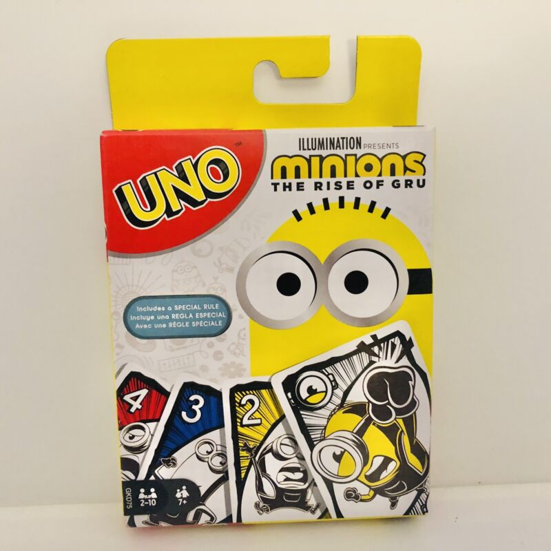 Minions The Rise Of Gru UNO Card Game Mattel New