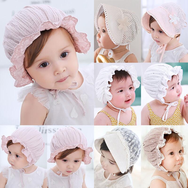 Baby Kinder Mädchen Kinderhut Sonnenhut Sommermütze Spitze Mützen Hüte Baumwolle