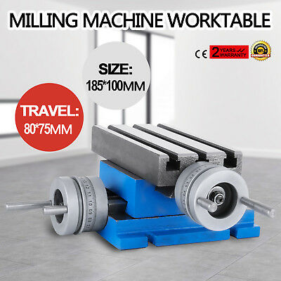 Milling Machine Bench Drill Vise Fixture Worktable X Y-axis Adjustment Table