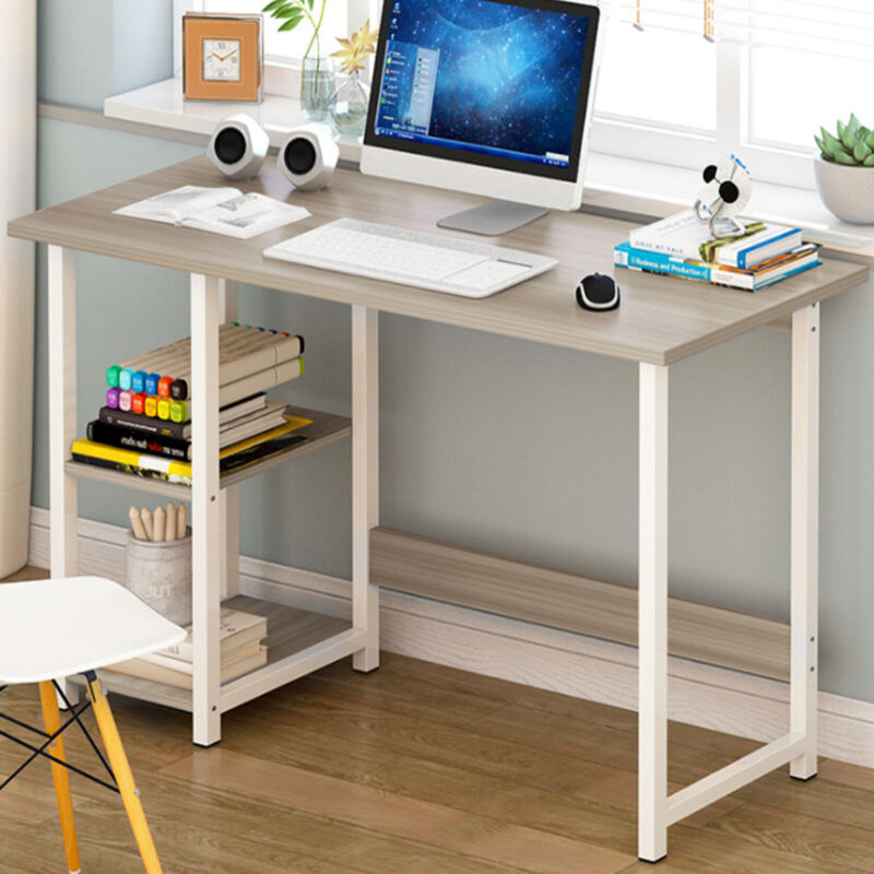 Details About Home Office Computer Pc Desk Writing Table Workstation Wood Bookshelf Furniture