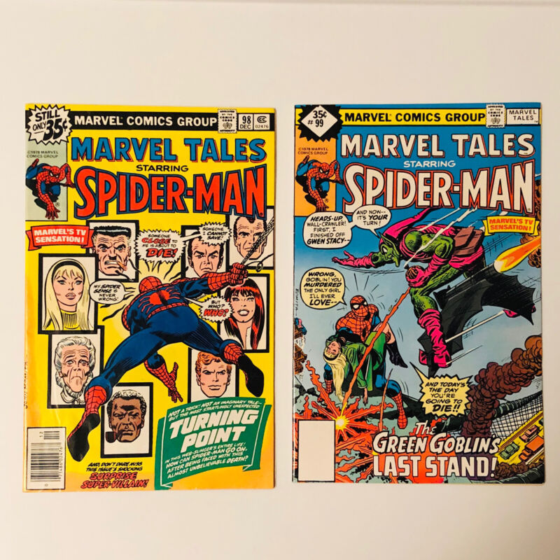 (Lot of 2) MARVEL TALES #98 & #99  VF 8.0 *Reprint Amazing Spider-man #121 & 122