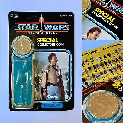 VINTAGE STAR WARS 🔸 LANDO GENERAL 🔸 LAST 17 🔸 POTF 92 BACK / CARD & COIN