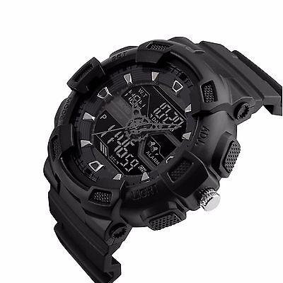 SKMEI Black Men Analog Digital Army Sport Date Chronograph Quartz Military Watch