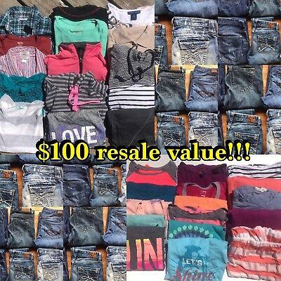 RESELLER'S WHOLESALE (10) Ten Pounds Women's Clothing Shirt Jeans Tops Lot