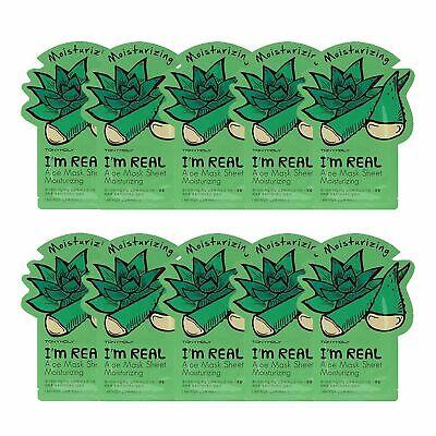 [Tonymoly] I'm REAL Aloe Mask Sheet Moisturizing (10 pack) exp 11/13/21