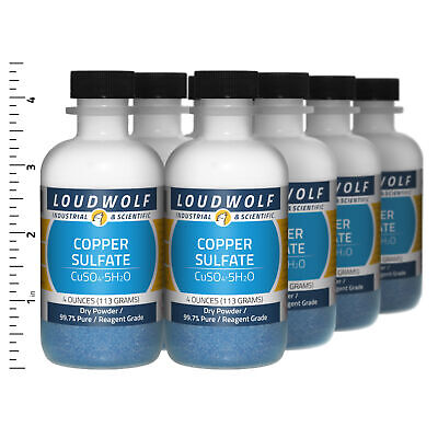 Copper Sulfate 2 Lb Total 8 Bottles Reagent Grade Dry Powder Usa Seller