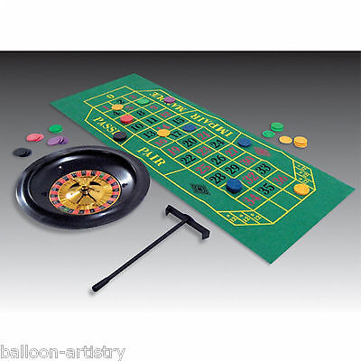 185 Piece Luxury Place Your Bets Casino Night Party Roulette Game Set