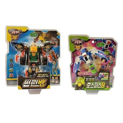Hello Carbot Sun Run Bang + Hospus B Set Korean Transformation Action Figure Toy