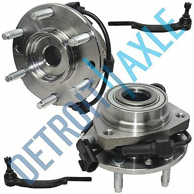 NEW Front Driver and Passenger Wheel Hub and Bearing w/ ABS + 2 Tie Rod End