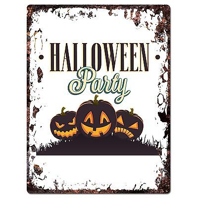PP1918 HALLOWEEN PARTY Plate Chic Sign Home Store Halloween Decor Gift - Pp Halloween