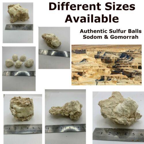 Authentic Brimstone Sulfur Balls Sodom & Gomorrah Holy Biblical Christianity